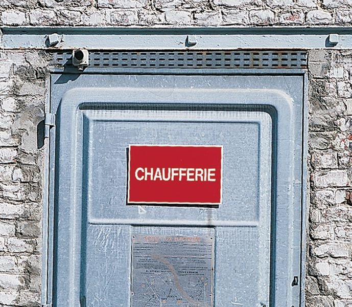 Panneau avec texte sur fond rouge - Passage privé - Panneaux et pictogrammes Interdiction