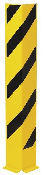 Protections pour poteaux et rayonnages grande hauteur noirs et jaunes