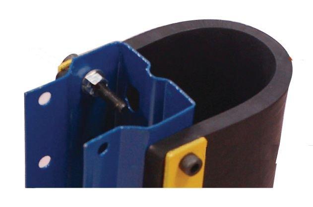 Protection pour poteaux et rayonnages avec amortisseur en caoutchouc - Seton