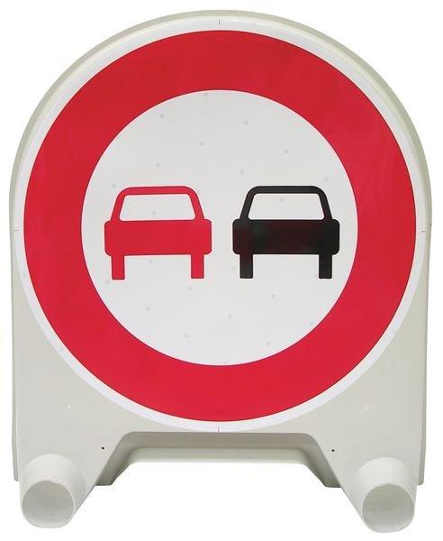 Panneau de signalisation temporaire en polypropylène Interdiction de dépasser