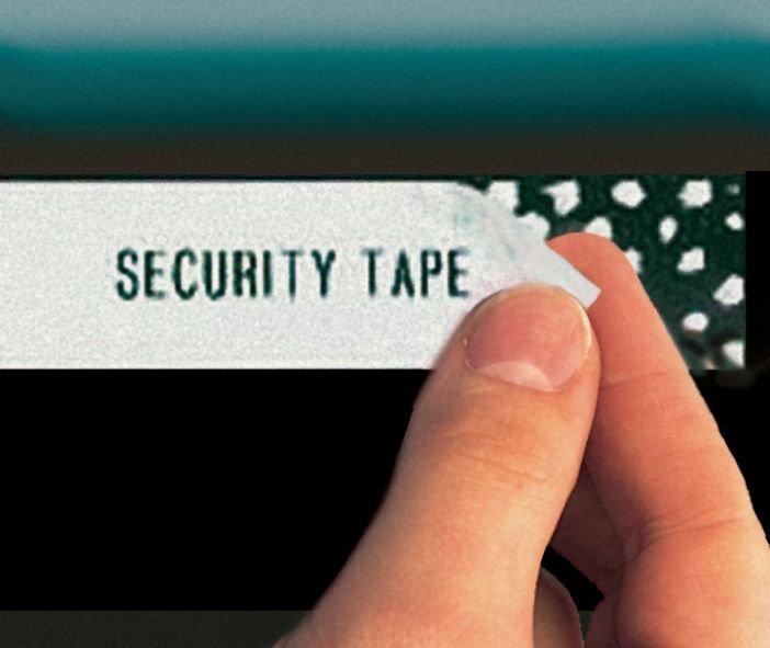 Rubans sécuritaires adhésifs pour étiqueteuse Brother - Etiqueteuse Brother et rubans pour étiqueteuses