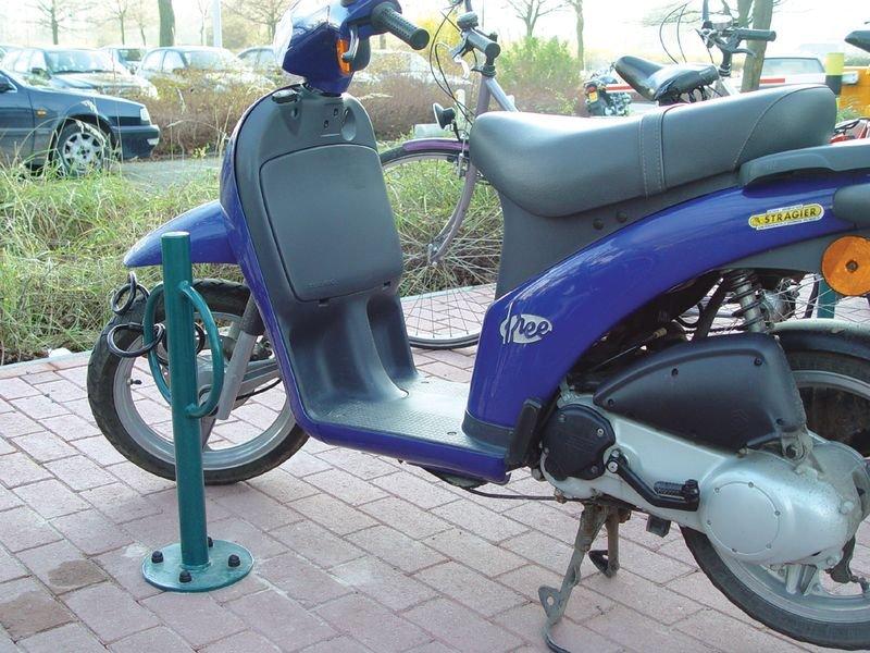 Range vélos sur pieds avec borne antivol pour tous types de 2 roues - Range-vélos