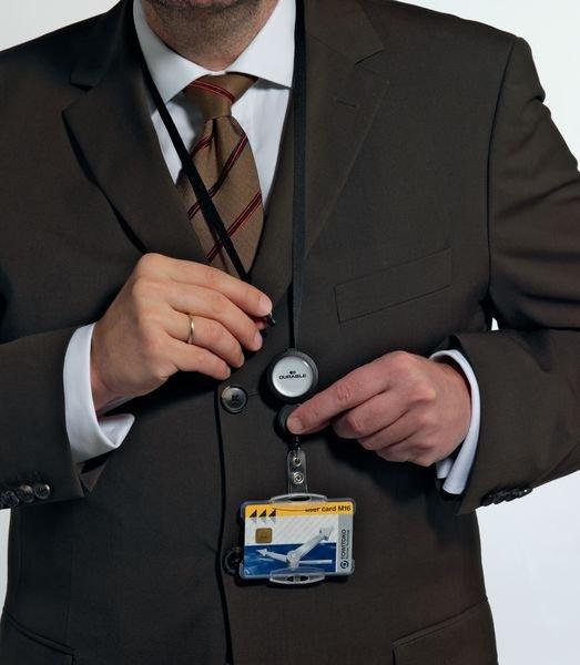 Enrouleur zip porte-badge, avec double enrouleur - Seton