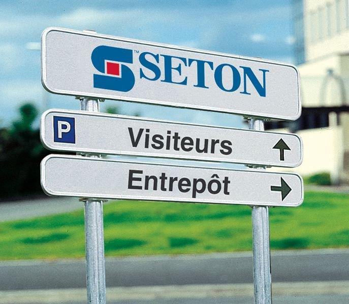 Signalisation rétroréfléchissante personnalisée 2 panneaux - Seton