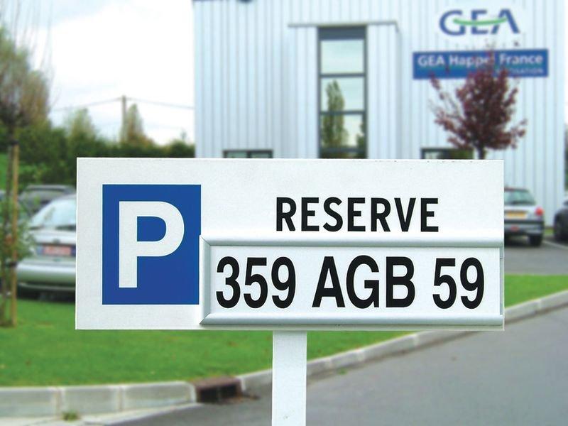 Plaque personnalisable pour panneau de parking modulaire - Seton