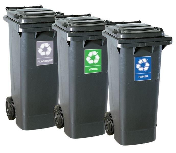 Autocollant pour Tri sélectif des déchets - Plastique - Seton