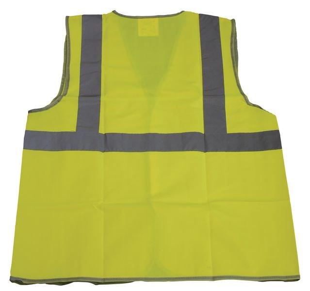 Gilets de sécurité fluo vierges avec ceinture et bretelles rétroréfléchissantes - Seton