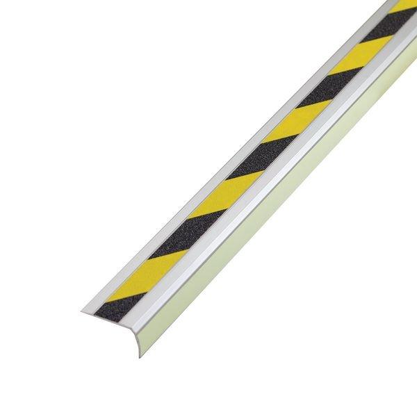 Nez de marche antidérapants en aluminium coloré
