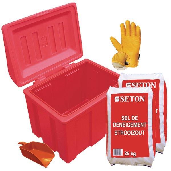 Prix Spécial - Kit complet matériel de déneigement avec pelle rouge