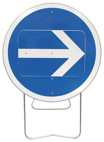 Panneau de signalisation temporaire sur pied Flèche directionnelle orientable