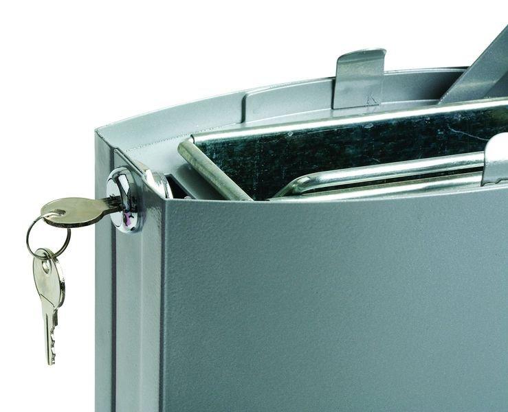 Cendrier sur colonne en acier avec base lestée - Cendriers d'entreprise