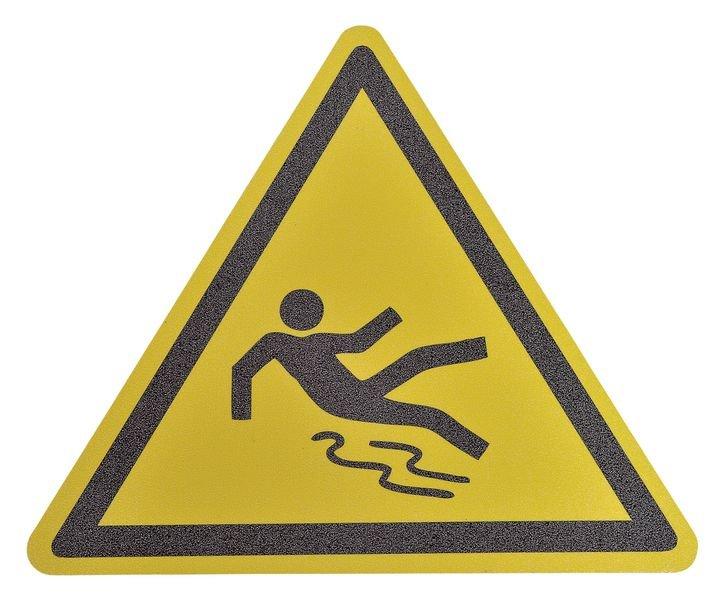 Pictogramme antidérapant au sol Danger surface glissante