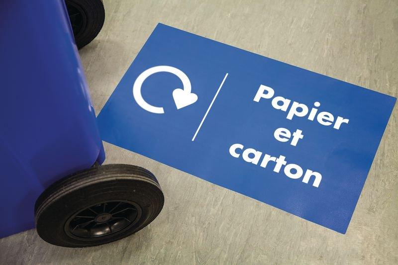 Marquage au sol recyclage - Plastiques - Seton