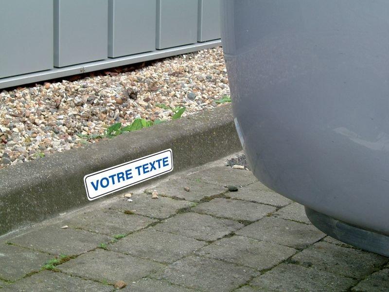 Plaque personnalisable pour butée de parking en PVC - Seton