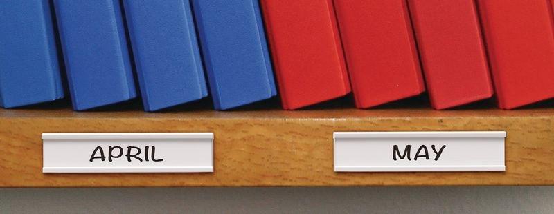 Porte-étiquettes adhésifs et étiquettes - Seton