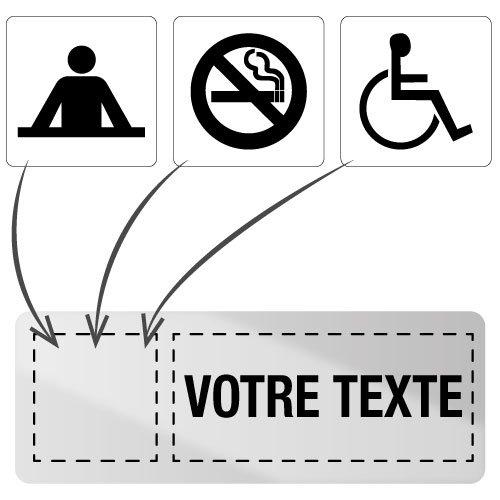 Plaque adhésive en inox personnalisable en ligne - Seton