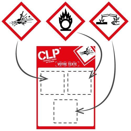 Panneaux magnétiques à symboles CLP personnalisables en ligne - Seton