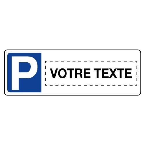 Panneau type plaque d'immatriculation Places de parking personnalisable en ligne - Seton