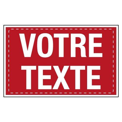 Panneaux aluminium et PVC à message personnalisable en ligne - Seton