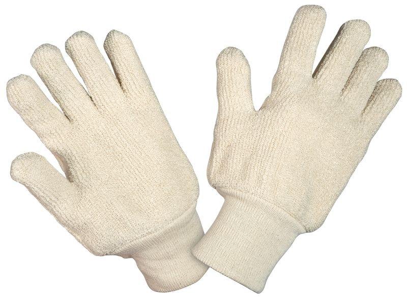 Gants anti-chaleur Honeywell en coton avec poignet bord-côte