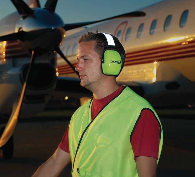 Casque anti-bruit 32/34 dB pliable jaune fluo haute visibilité - Seton