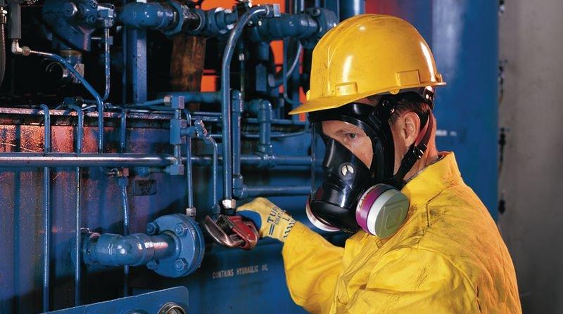 Masque complet de protection respiratoire bi-filtre avec système de fixation click - Seton