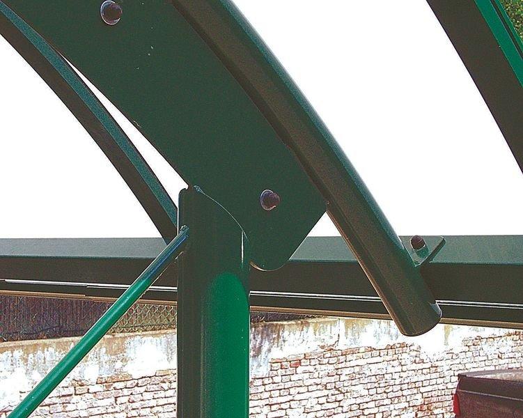Abris vélos ou fumeurs de 4m avec toit arrondi en demi-lune - Abris extérieurs pour vélos et motos