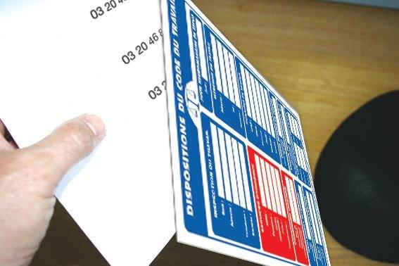 Affichage obligatoire à insert sur les dispositions du code du travail - Seton