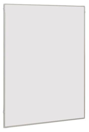 Tableau blanc magnétique recto-verso modulable avec tableau liège et grille