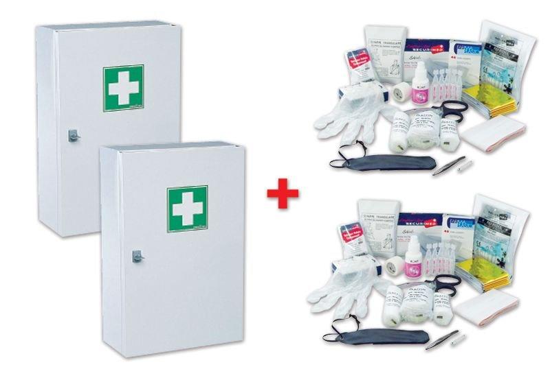 Lot de 2 armoires à pharmacie + 2 réassorts gratuits