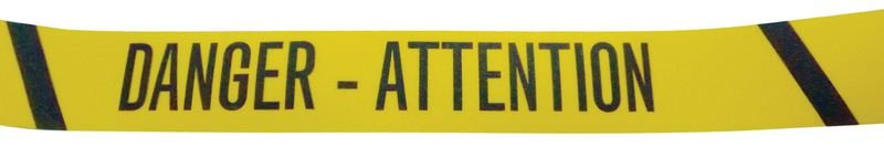 Bandes antidérapantes adhésives en rouleau avec texte Danger - Attention - Puissance 2 - Seton