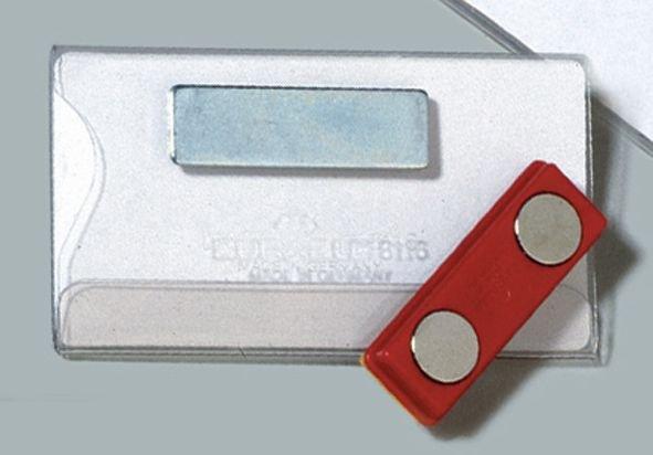 Badge de conférence avec clip magnétique - Seton