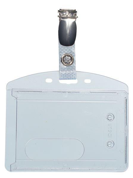 Porte-badge rigide en polycarbonate pour carte ISO 86 x 54 mm