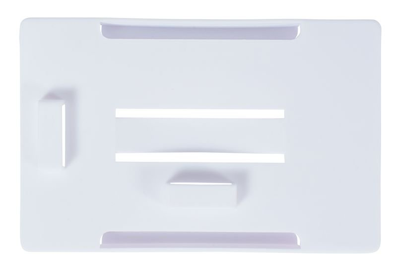 Porte-badge multi-cartes, en plastique moulé blanc - Seton