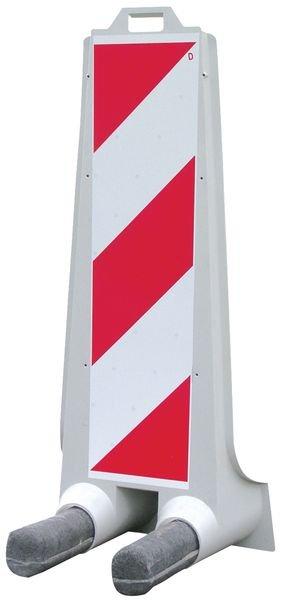 Balises de signalisation simple ou double face hachurée rouge et blanc