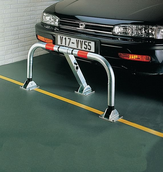 Barrière de parking rabattable avec amortisseurs - Seton