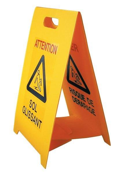 Chevalet de signalisation - Sol glissant et Risque de dérapage