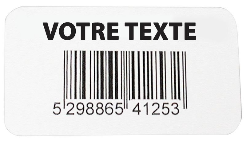 Etiquettes code à barres en vinyle renforcé