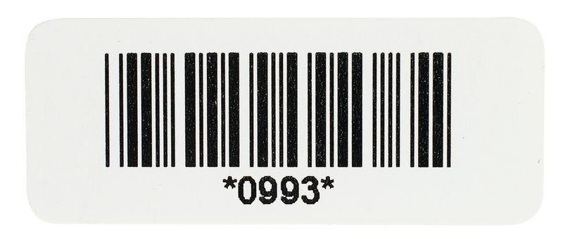 Etiquettes code à barres en papier avec numérotation