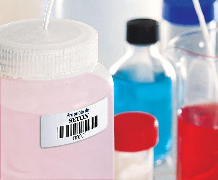Etiquettes code à barres en papier laminé - Seton