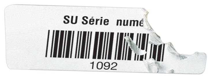 Etiquettes code à barres en vinyle ultra-destructible - Seton