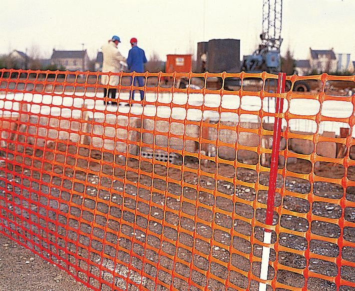 Filet de chantier en plastique orange - rouleau de 50m - Seton