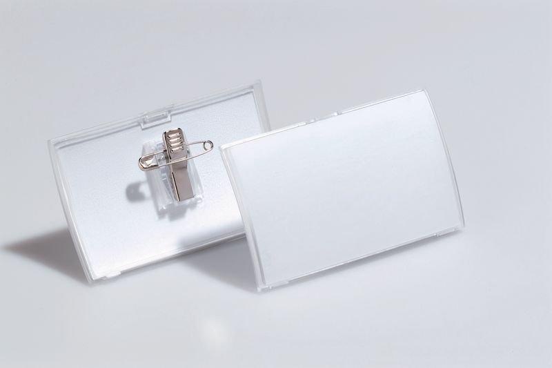 Badges de conférence rigides en polypropylène moulé