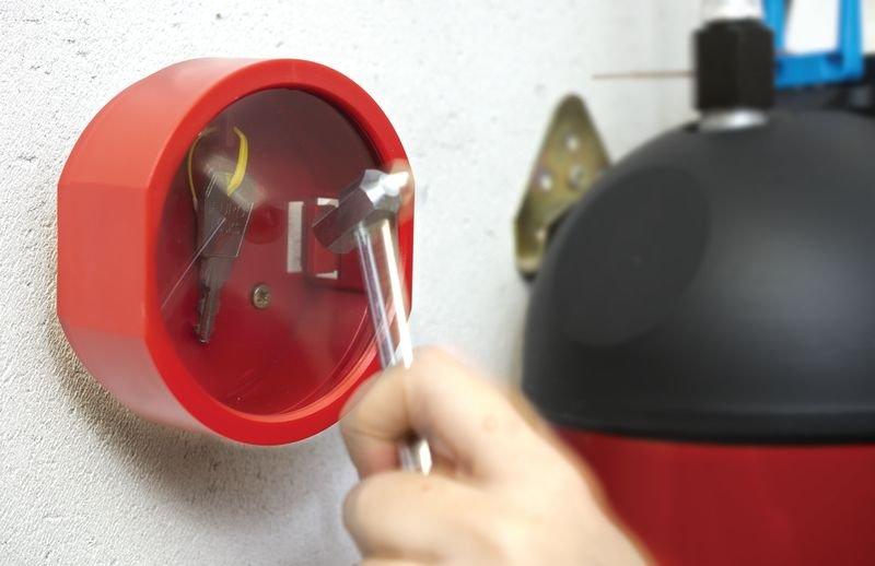 Vitre de rechange pour boîte à clé de secours cylindrique - Seton