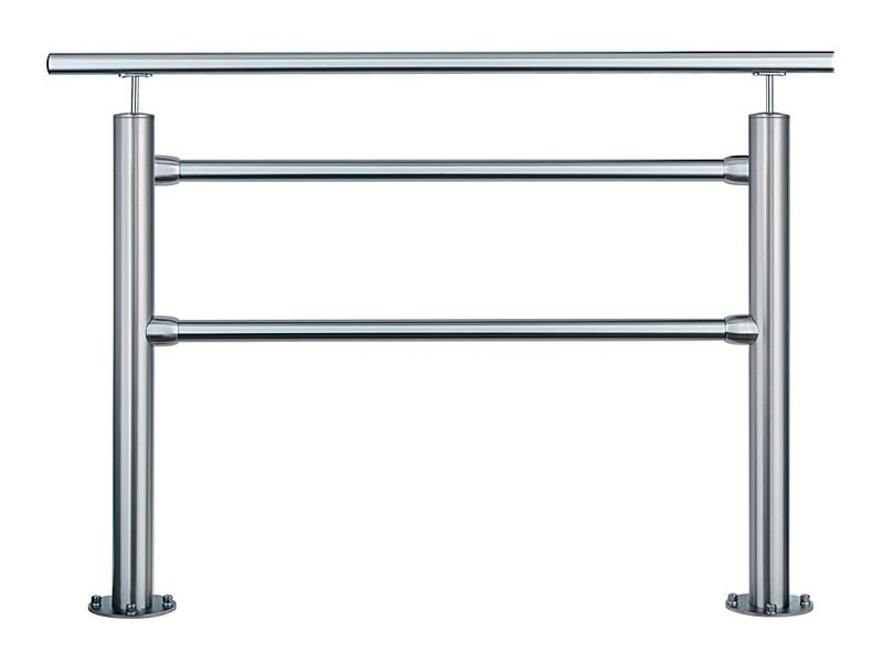 Barrières de voirie à tubes en acier avec ou sans main courante