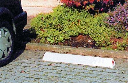 Butée de parking en polyéthylène blanc - Butées de parking