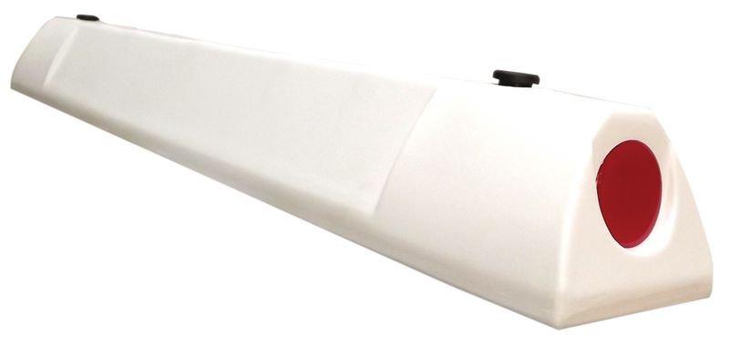 Butée de parking en polyéthylène blanc - Seton