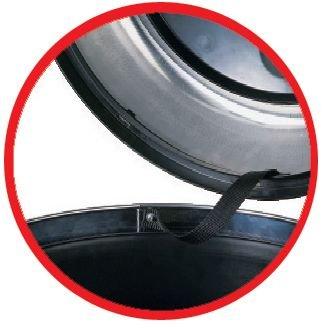 Poubelle design à couvercle basculant - Poubelles & corbeilles d'entreprise