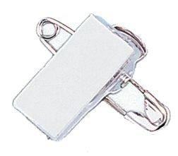 Pince clip pour badge avec épingle - Seton
