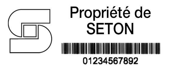 Etiquettes Duraguard en polyester laminé lite - Étiquetage de sécurité et d'identification